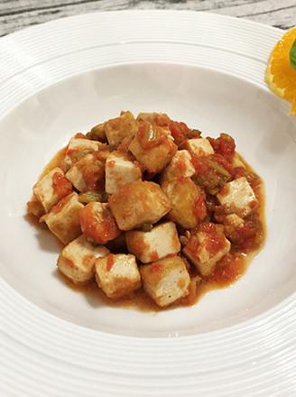 味噌茄汁老豆腐的做法