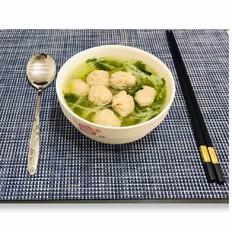 香菜白菜粉丝丸子汤