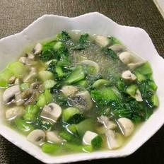 家常蘑菇炒青菜