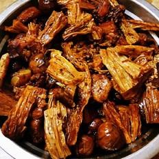 板栗腐竹红烧肉