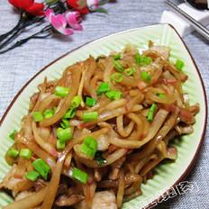五花肉炒卞萝卜条