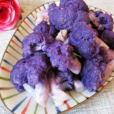 肉片炒紫菜花
