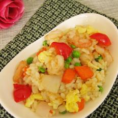 鸡蛋虾仁炒米饭