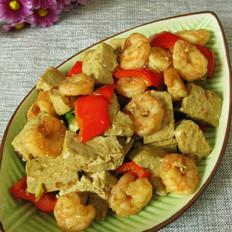 虾仁烧黑豆豆腐