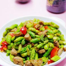 芦笋炒毛豆