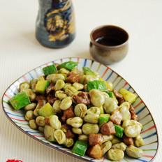——黄瓜丁烧蚕豆