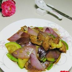 西葫芦炒洋葱