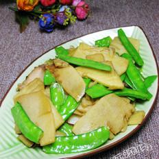 笋片炒荷兰豆