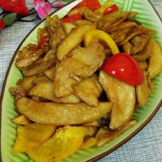 肉片炒杏鲍菇