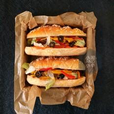 燕麦牛排三明治