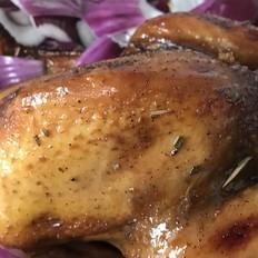 烤三黄鸡的做法