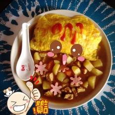 咖喱猪肉蛋包饭