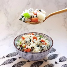 海苔炒饭的做法