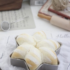 六角星白面包