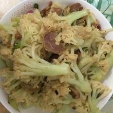 腊肠炒菜花