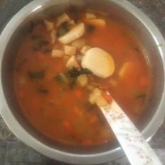 蔬菜炒年糕汤