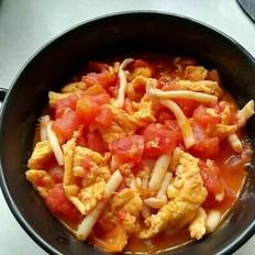 鸡蛋玉菇炒红柿