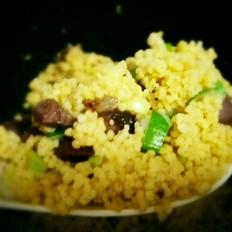 风干牛肉小米饭