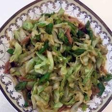 家常版辣椒炒圆白菜