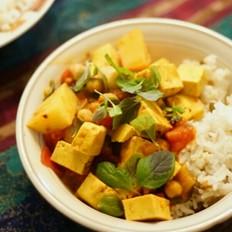 鹰嘴豆豆腐咖喱纯素
