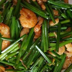 韭菜花炒虾仁