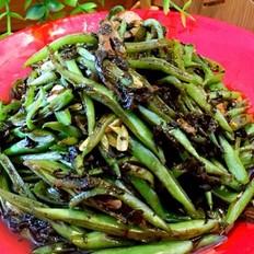 榄菜四季豆