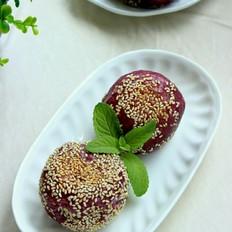 枣泥紫薯麻球的做法