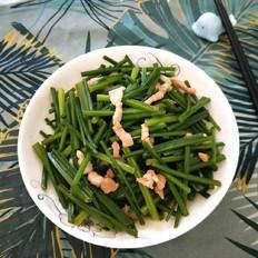 肉丝炒韭菜心