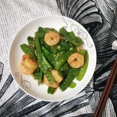 虾仁炒荷兰豆