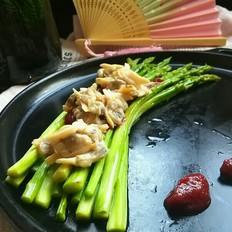茄汁蛤蜊肉配芦笋