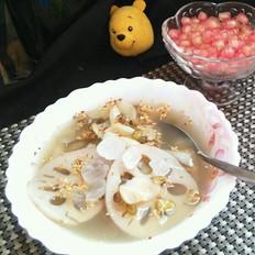 百合莲藕绿豆汤