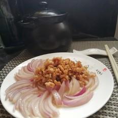 洋葱丝炒牛肉末