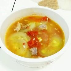 黄瓜肉片浓汤