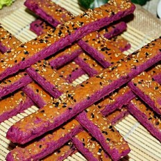 香甜酥脆秒杀所有的大朋友、小朋友!芝麻紫薯脆条