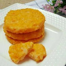 普通米饭吃腻了?来试试黄金三文鱼米饼