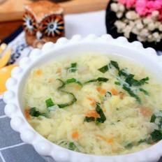 鸡蛋面线芙蓉汤 宝宝健康食谱