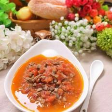 番茄焖猪肝  宝宝健康食谱