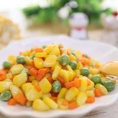 宝宝辅食食谱 松子炒玉米