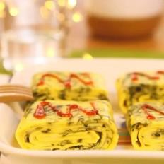 宝宝辅食食谱 紫菜奶酪厚蛋烧
