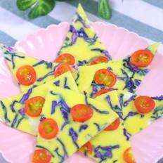 紫甘蓝蛋饼 宝宝辅食食谱
