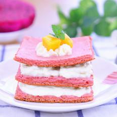 火龙果蛋糕  宝宝辅食食谱