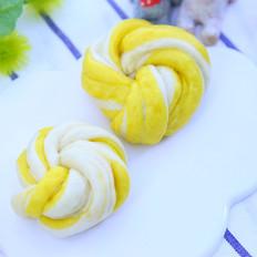 南瓜双色花卷  宝宝辅食食谱