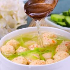 黄瓜鸡肉丸子汤  宝宝辅食食谱