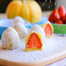山药草莓大福  宝宝辅食食谱
