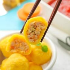 玉米面蒸肉丸  宝宝辅食食谱