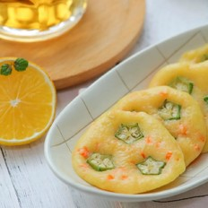 鳕鱼秋葵蛋饼  宝宝辅食食谱