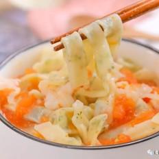 蔬菜虾仁夹心面  宝宝辅食食谱