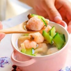 蘑菇虾滑汤  宝宝辅食食谱