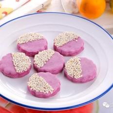 软糯紫薯饼  宝宝辅食食谱