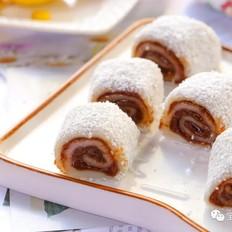 糯米豆沙卷  宝宝辅食食谱